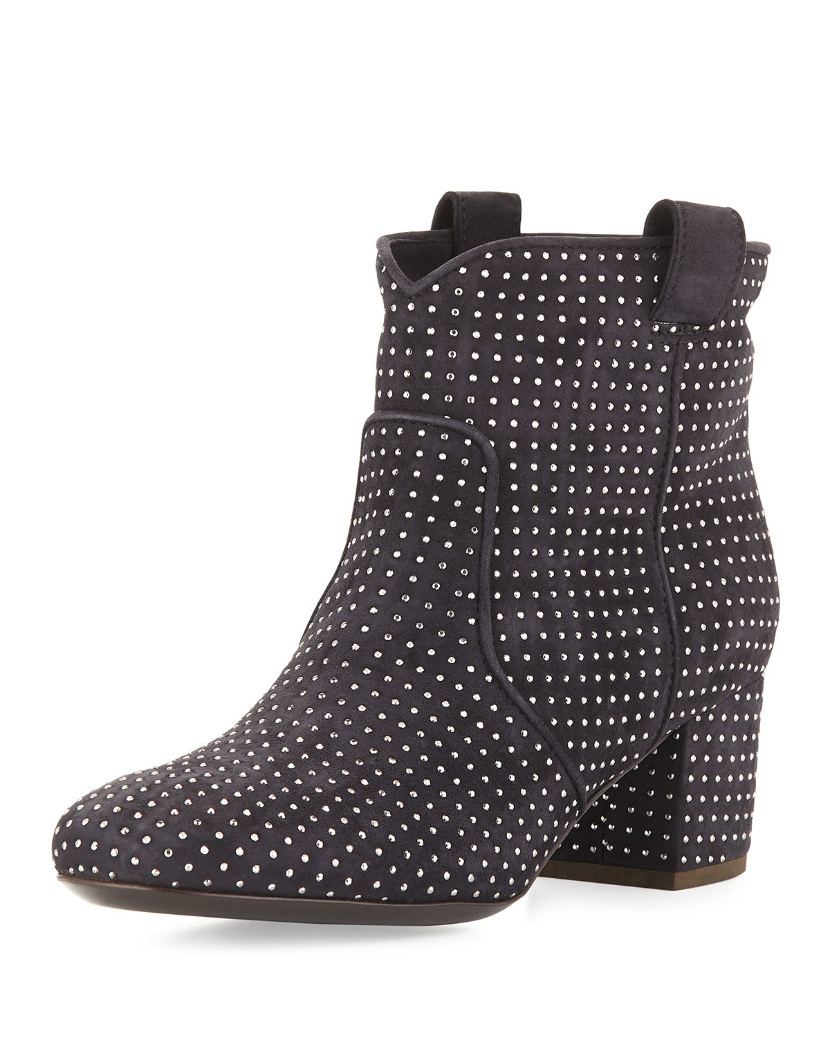 laurence dacade belen studded suede ankle boot in gray lyst