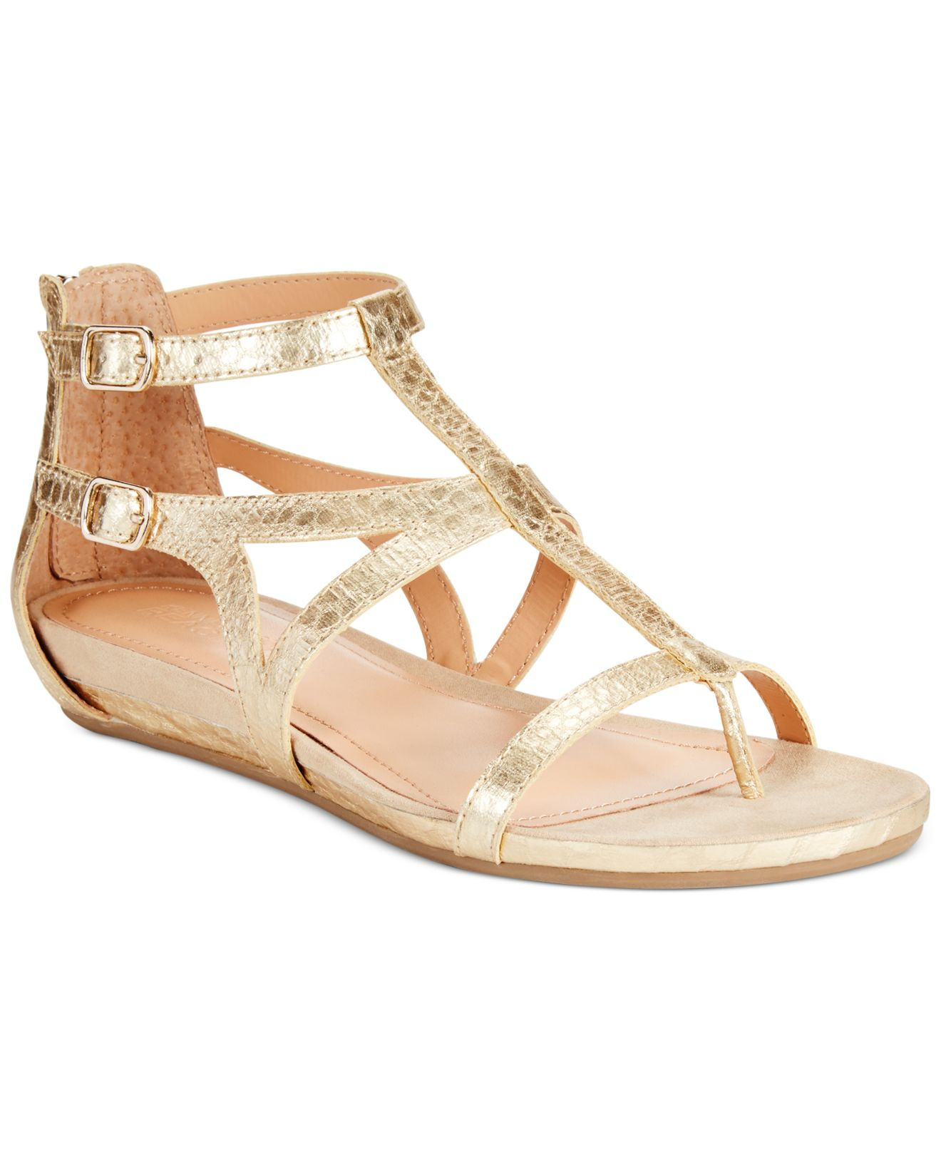 b38ae6b7d593 Lyst - Kenneth Cole Reaction Women s Lost Time Gladiator Sandals in ...
