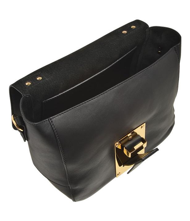 Sophie Hulme Mini Soft Flap Bag In Black Lyst