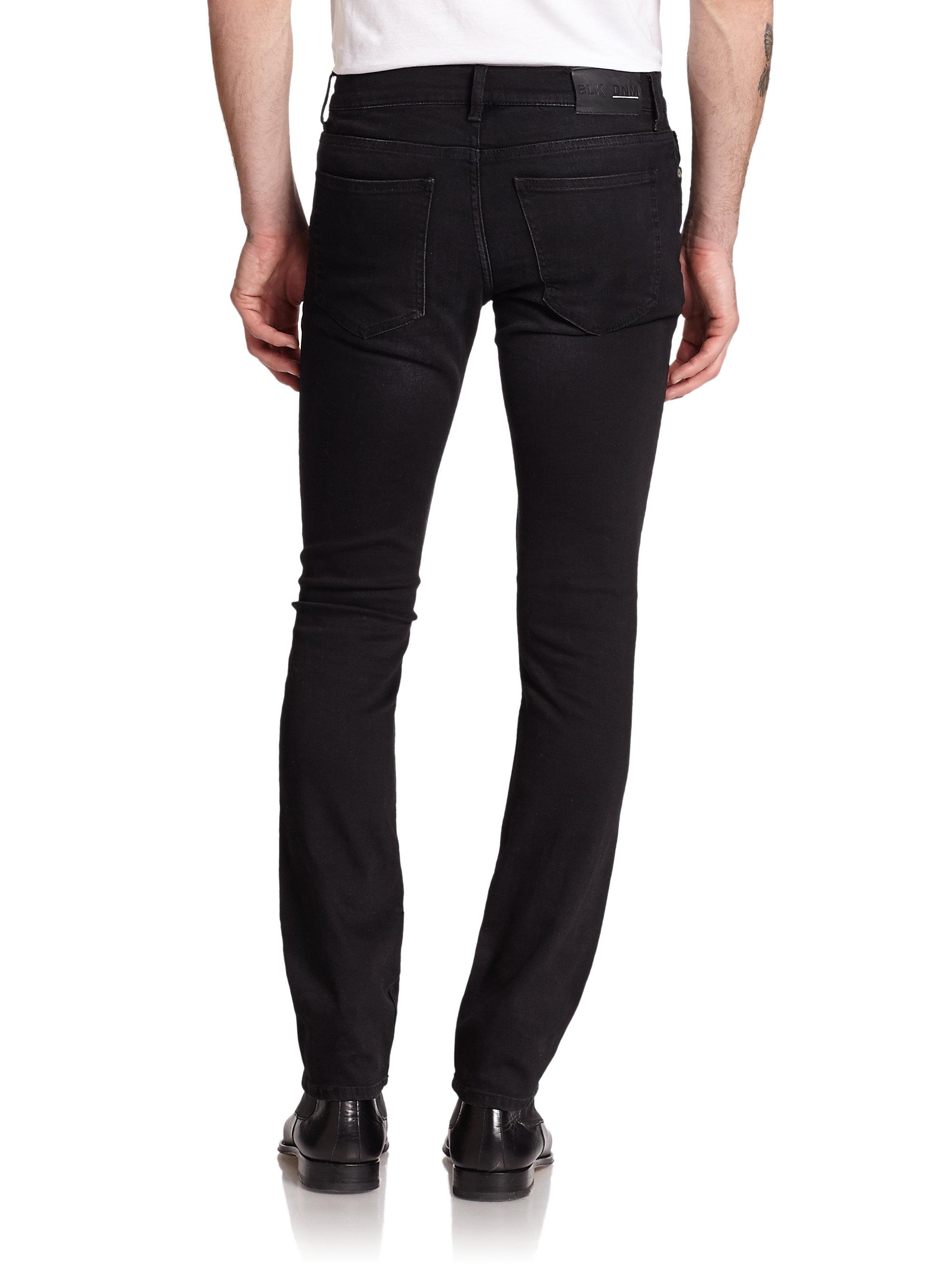 blk dnm 25 skinny fit jeans in black for men lyst. Black Bedroom Furniture Sets. Home Design Ideas
