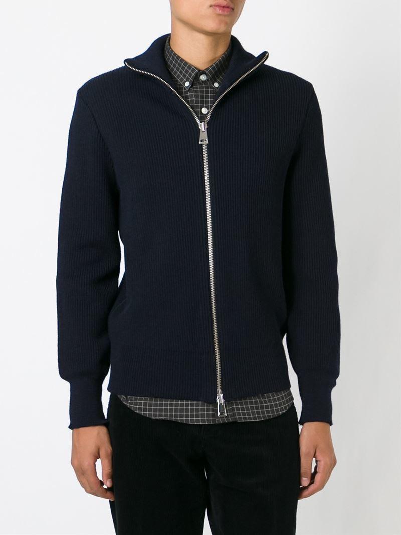zipped cardigan - Black Ami Shopping Online Free Shipping e7GyMtEi