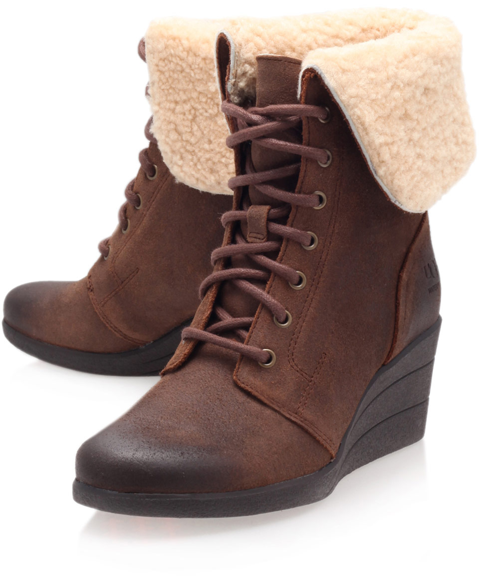 ugg wedge boots for brown