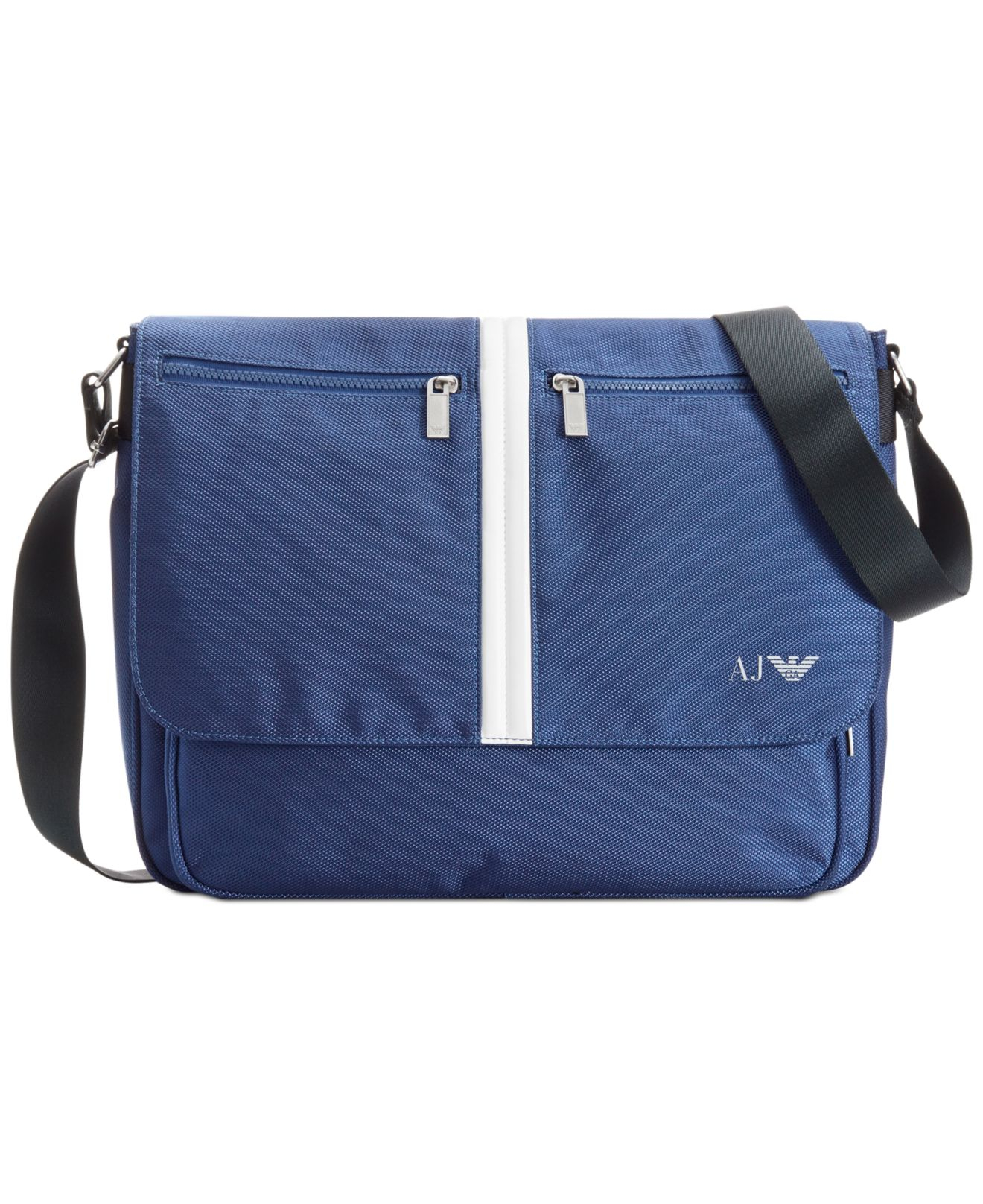 Armani jeans Messenger Bag in Blue for Men