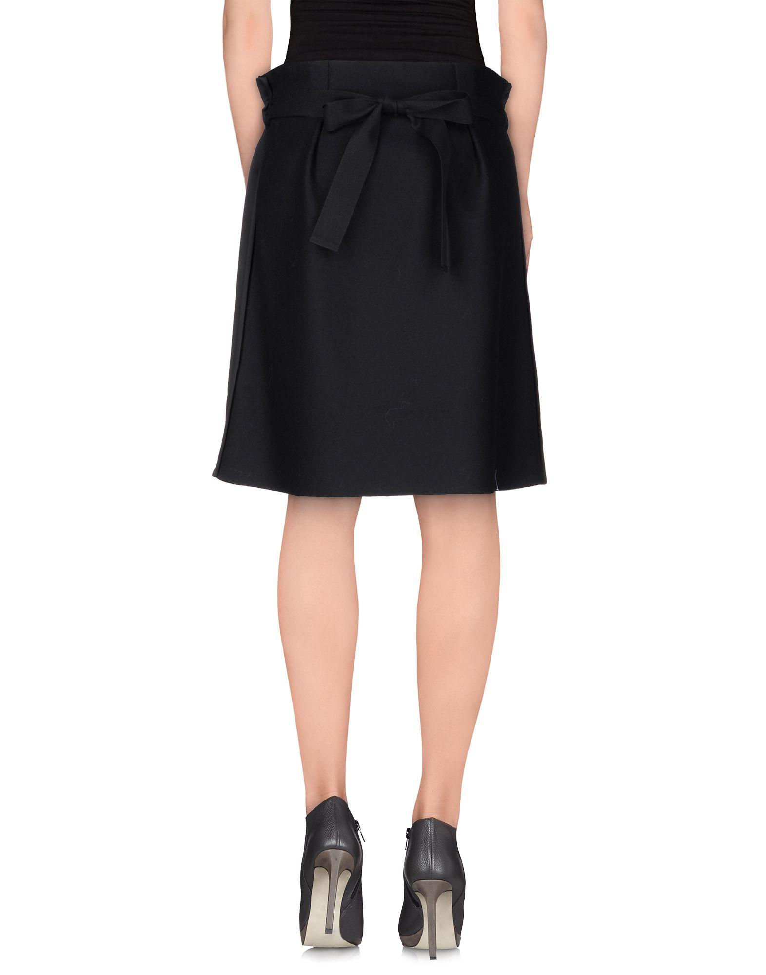 ter et bantine knee length skirt in black lyst