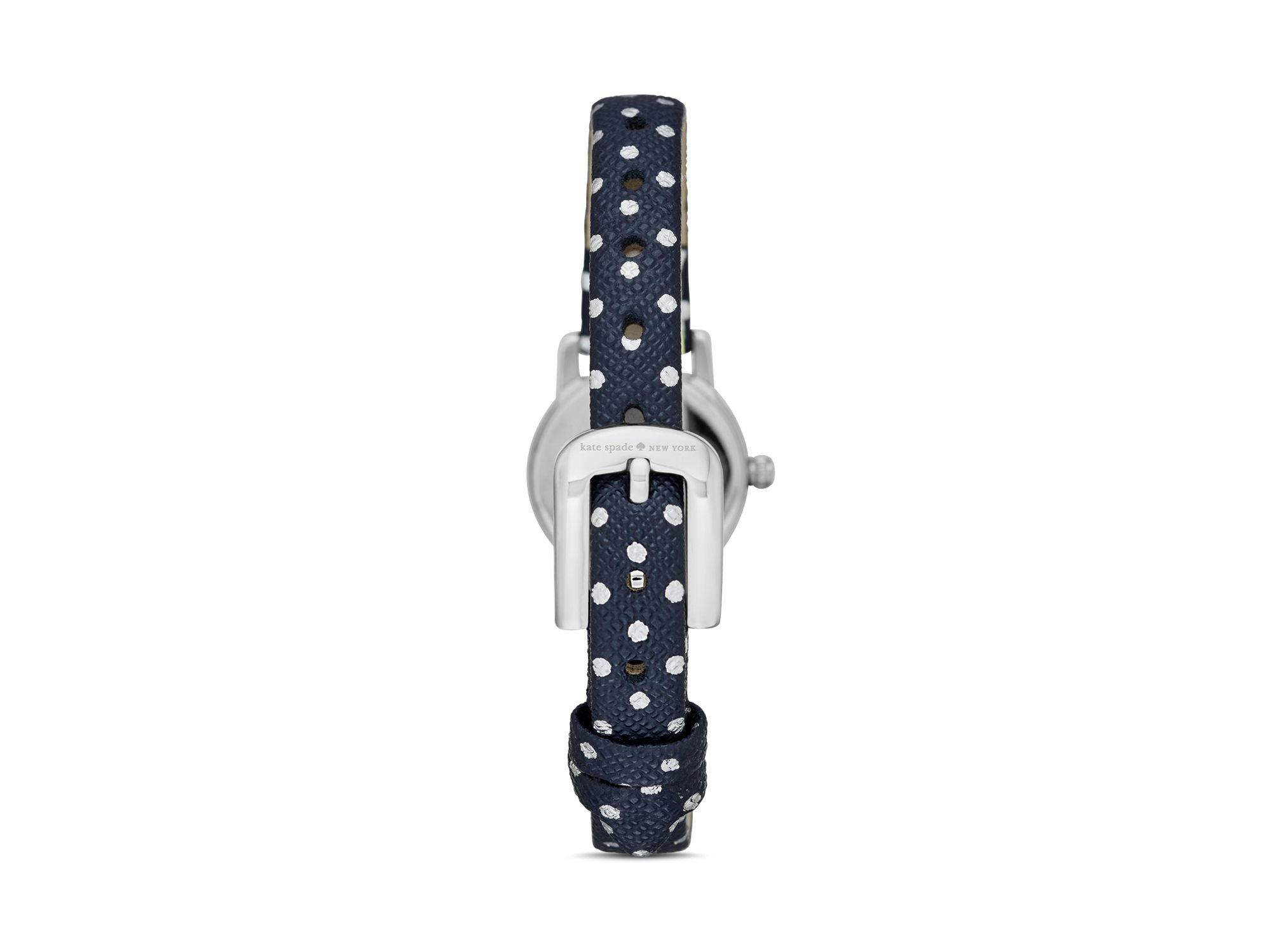round new metro watch accessories leather spade strap in lyst dial blue york polar watches kate normal bear product