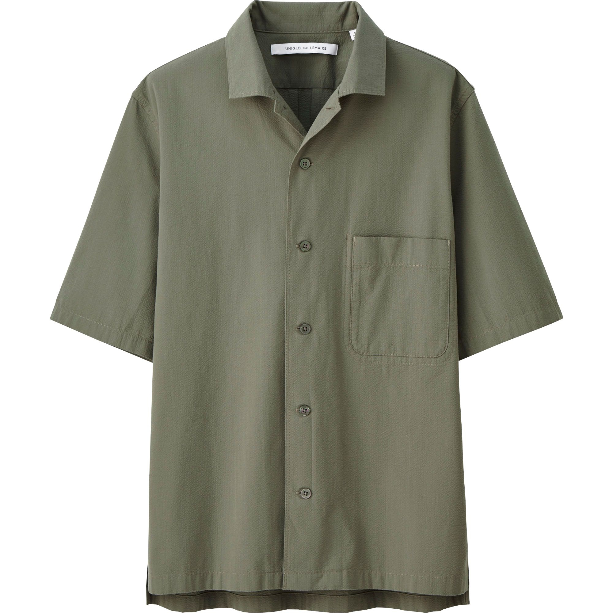 Uniqlo men 39 s lemaire seersucker short sleeve shirt in for Mens seersucker shirts on sale