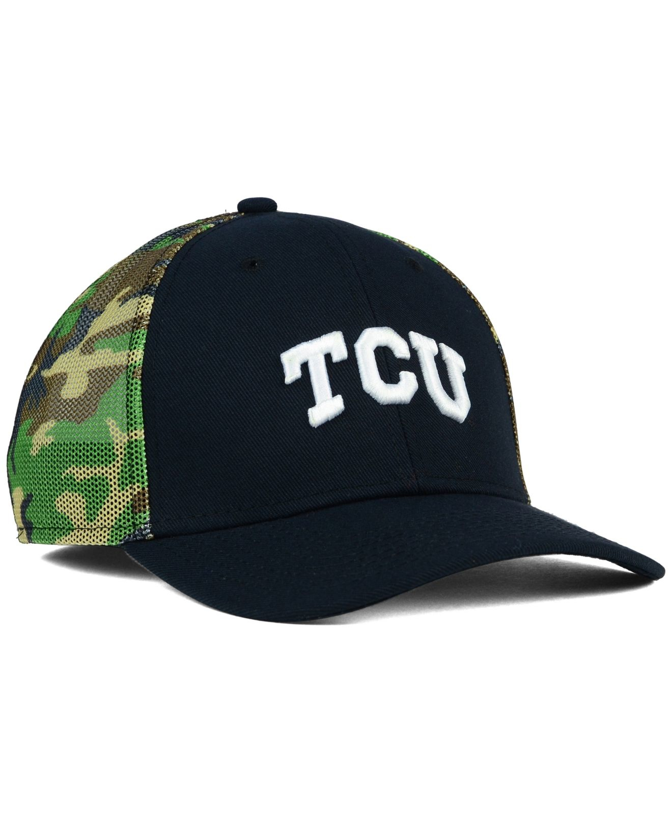 promo code e4e65 f963b ... ireland lyst nike tcu horned frogs camo hook swooshflex cap in green  for men 25c61 83839