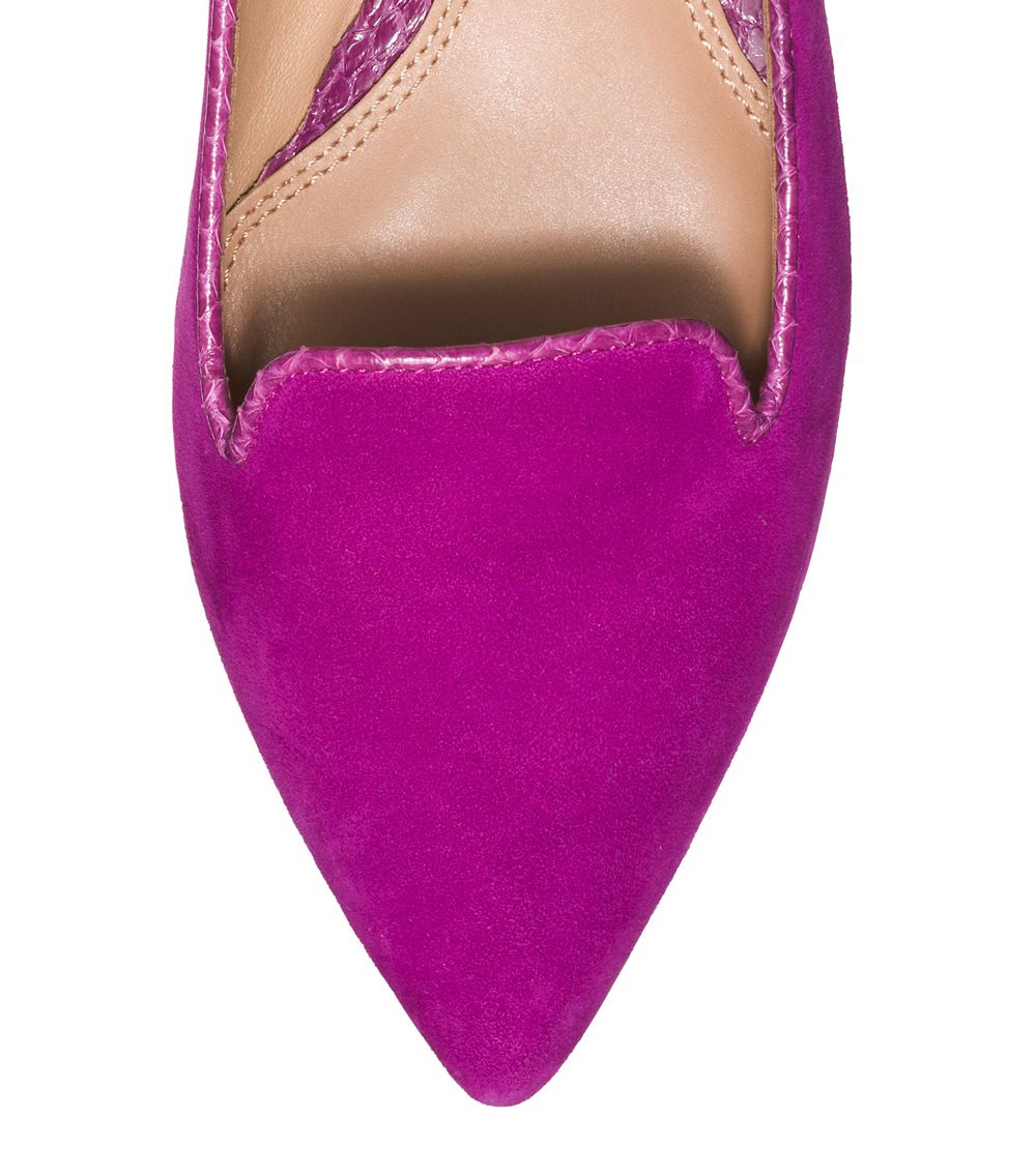 8331cafbcbd Lyst - Tory Burch Connely Smoking Slipper in Purple