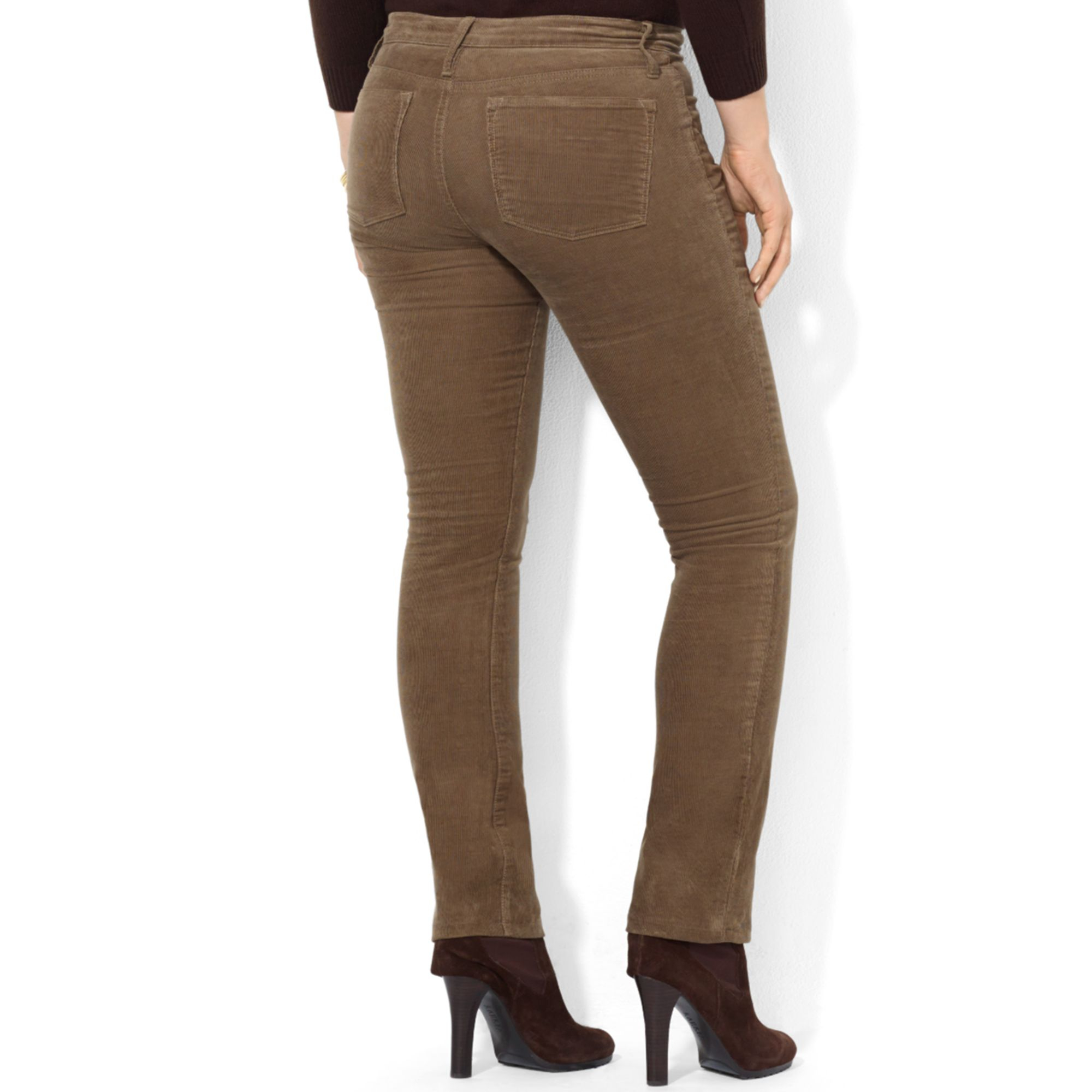Lauren by ralph lauren Plus Size Straight leg Corduroy Pants in ...