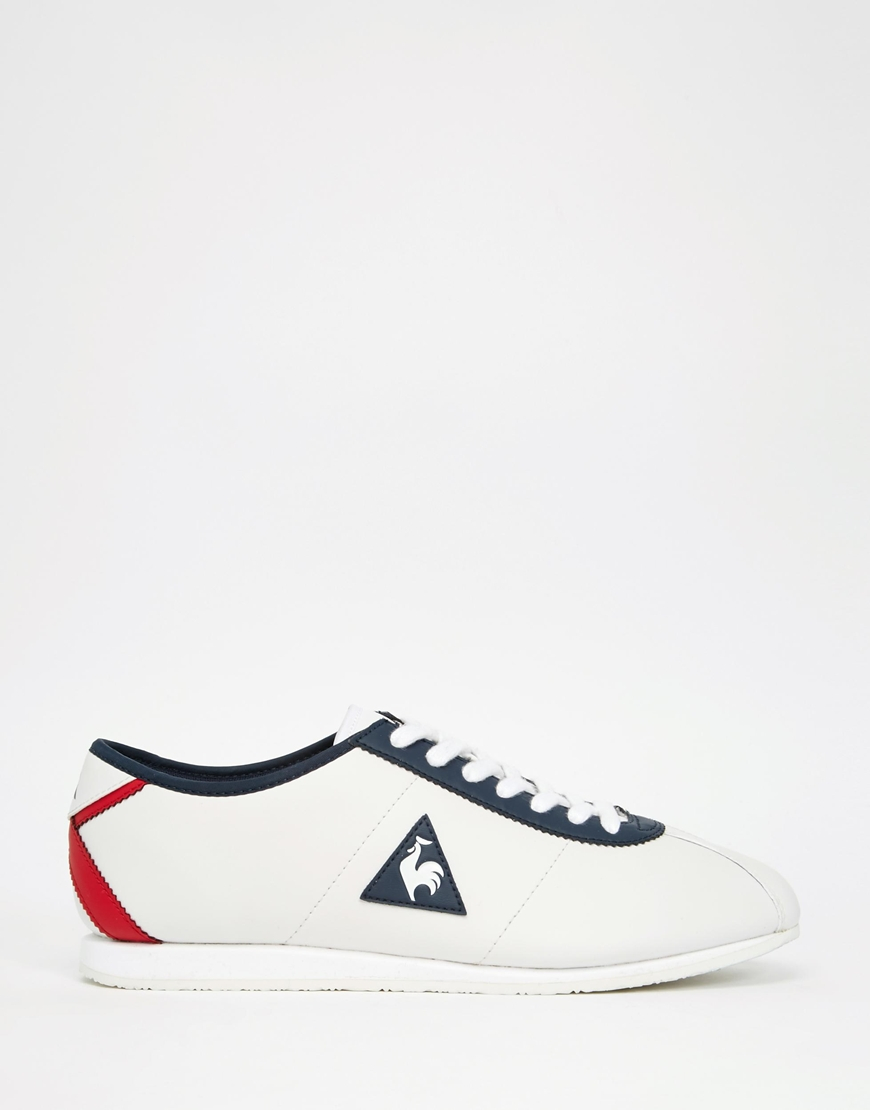 74d4feff16c Le Coq Sportif Wendon Leather Trainers in White for Men - Lyst