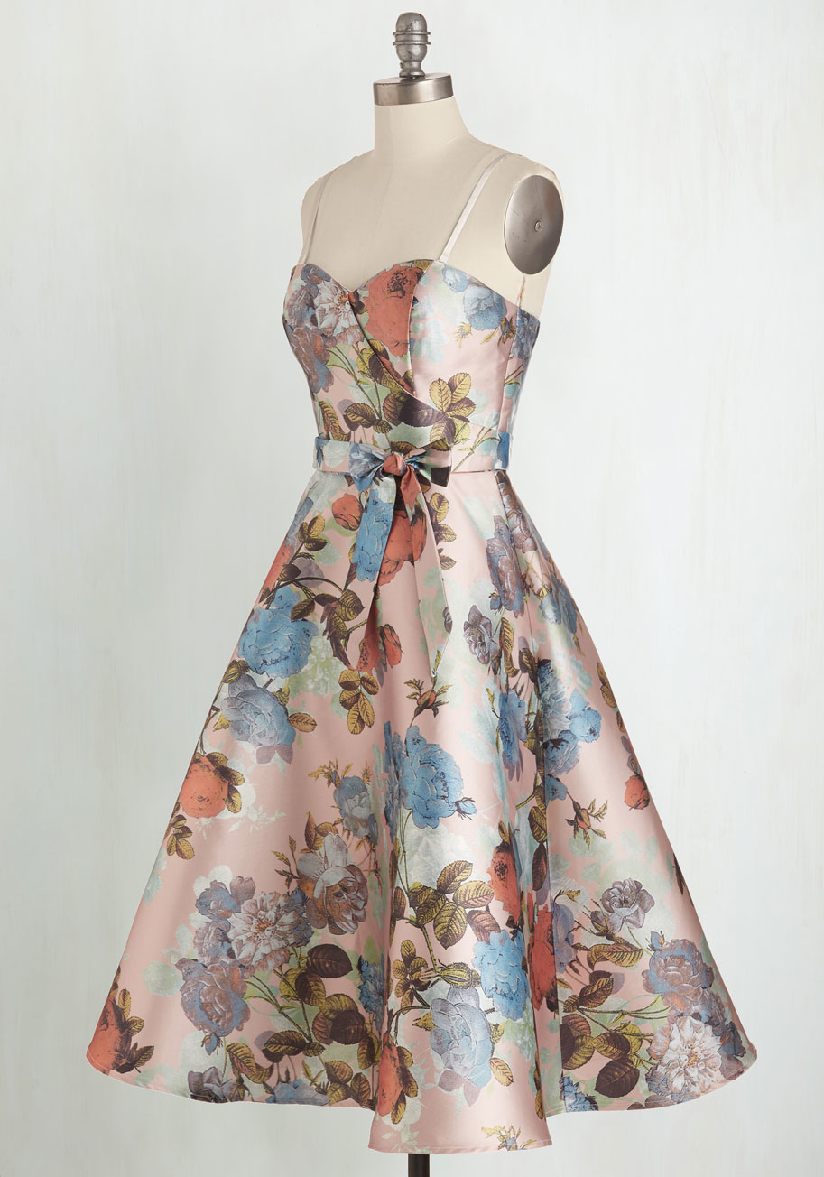 Lyst Chi Chi London Floral Print Bardot Dip Hem Dress In