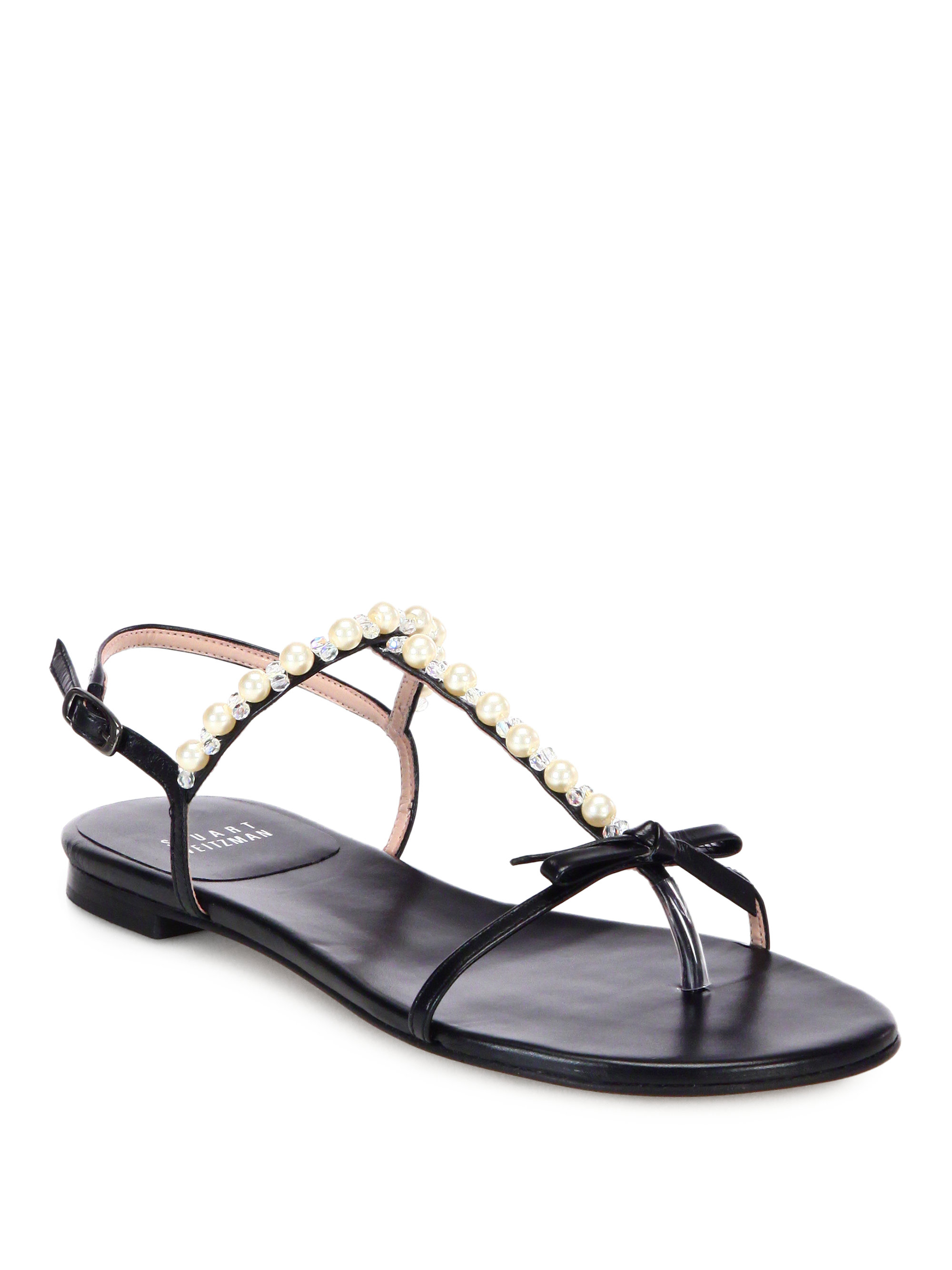 Stuart Weitzman Leather Flip Flops