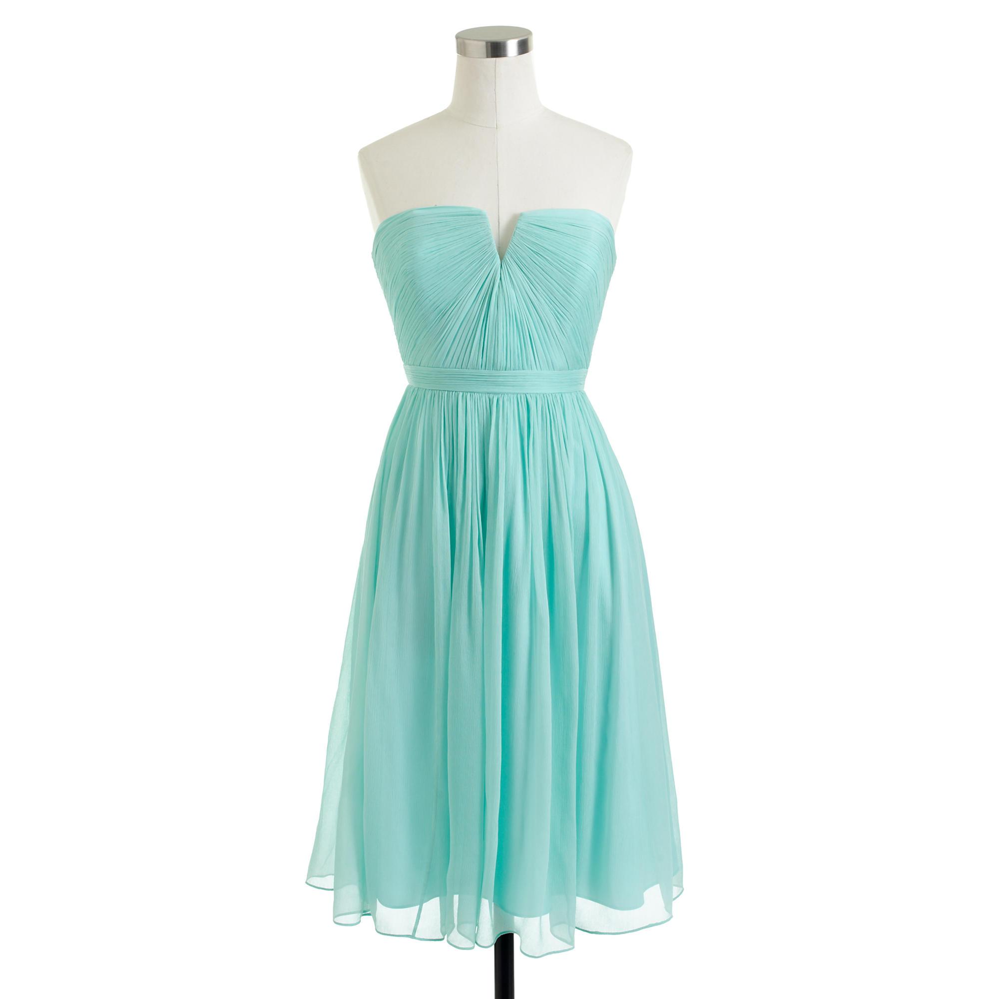 Lyst - J.Crew Nadia Dress In Silk Chiffon in Blue