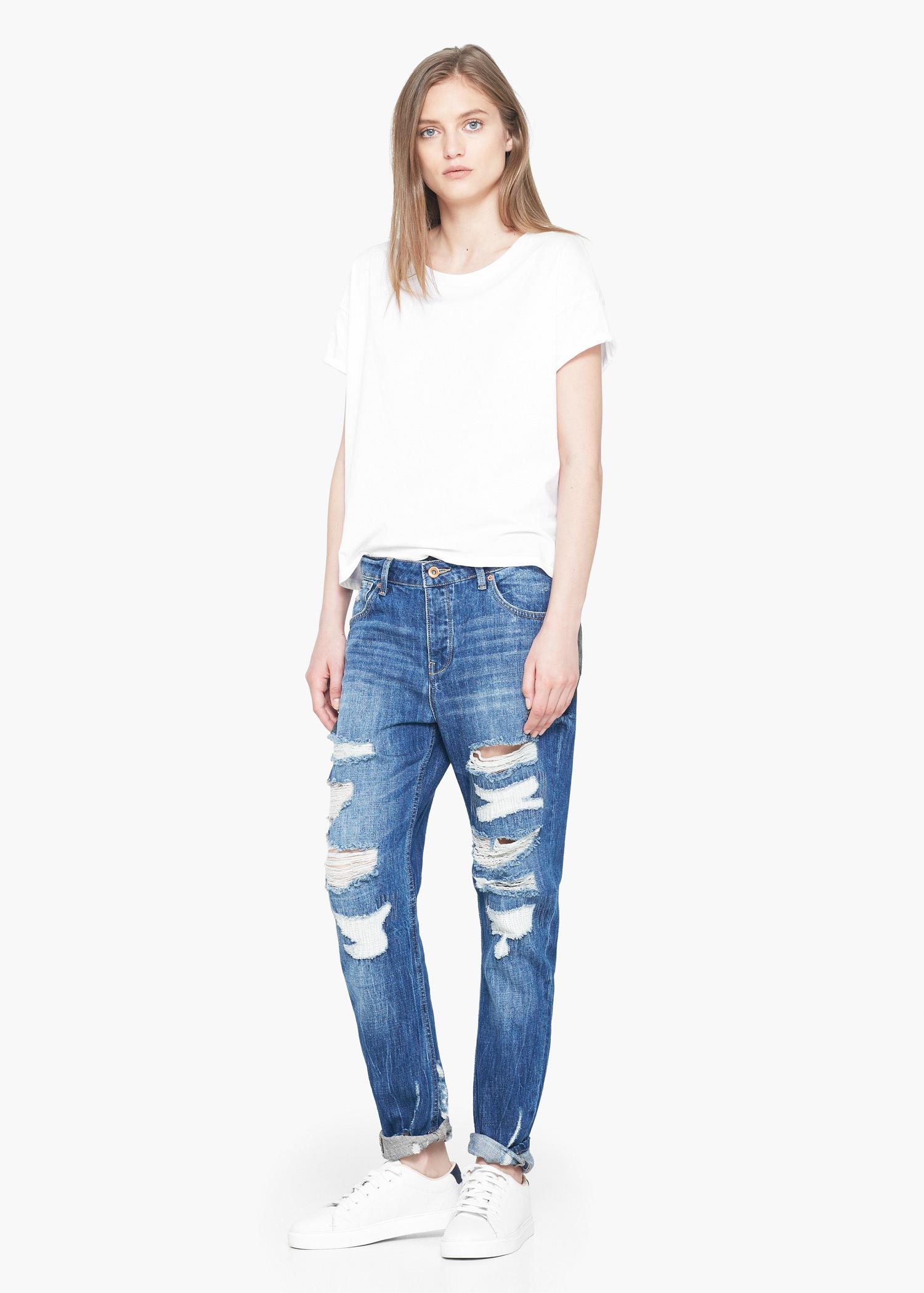 Mango Boyfriend Angie Jeans in Blue