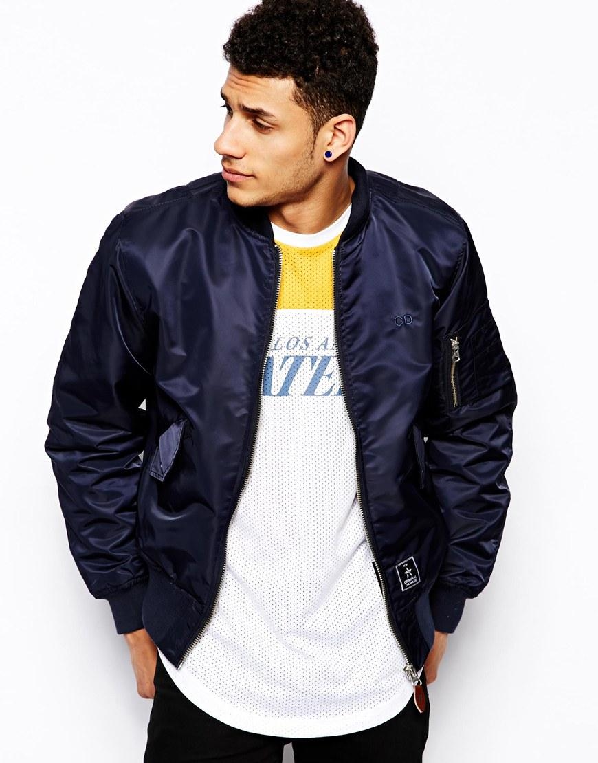 Mens Blue Bomber Jacket - Coat Nj