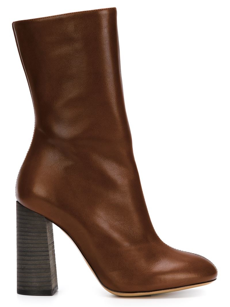 Lyst Chlo 233 Harper Boots In Brown