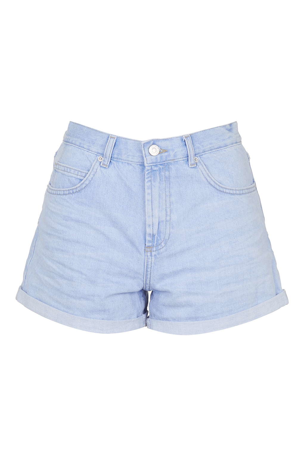 Topshop Moto Bright Blue Rose Shorts in Blue | Lyst