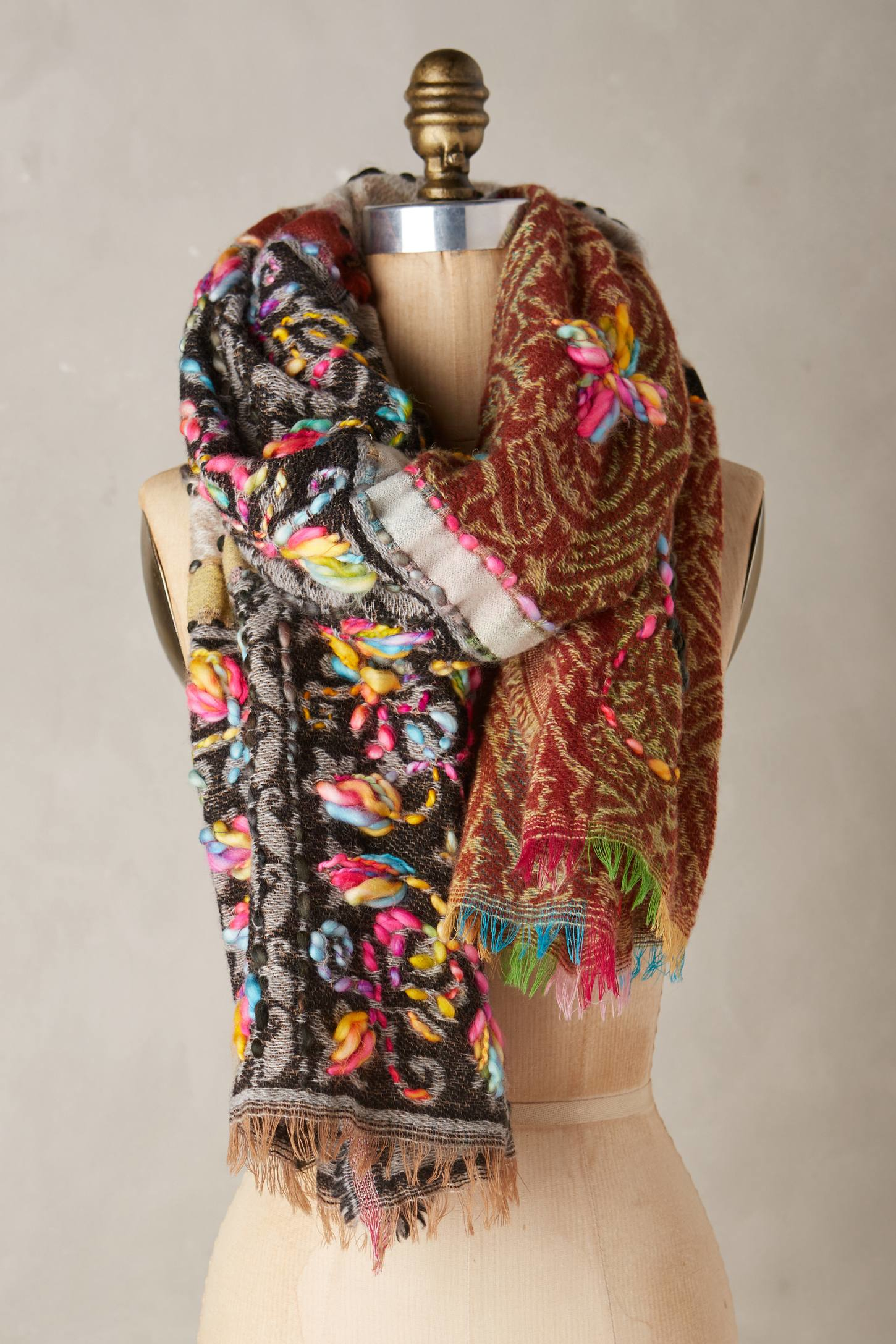 Anthropologie Manali Scarf In Gray Lyst