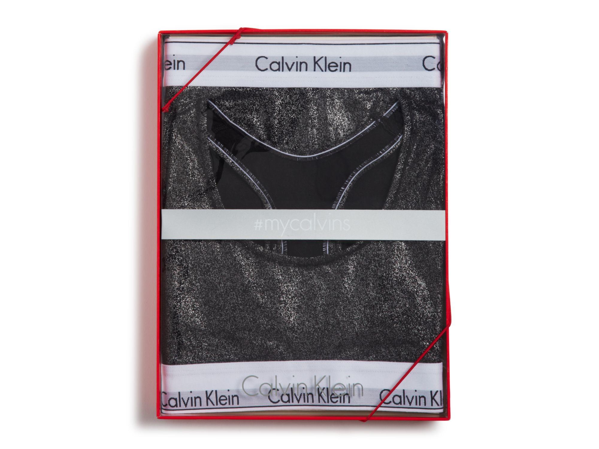 37a30c4e666ca Calvin Klein Modern Cotton Bralette And Bikini Gift Set  qset001 in ...