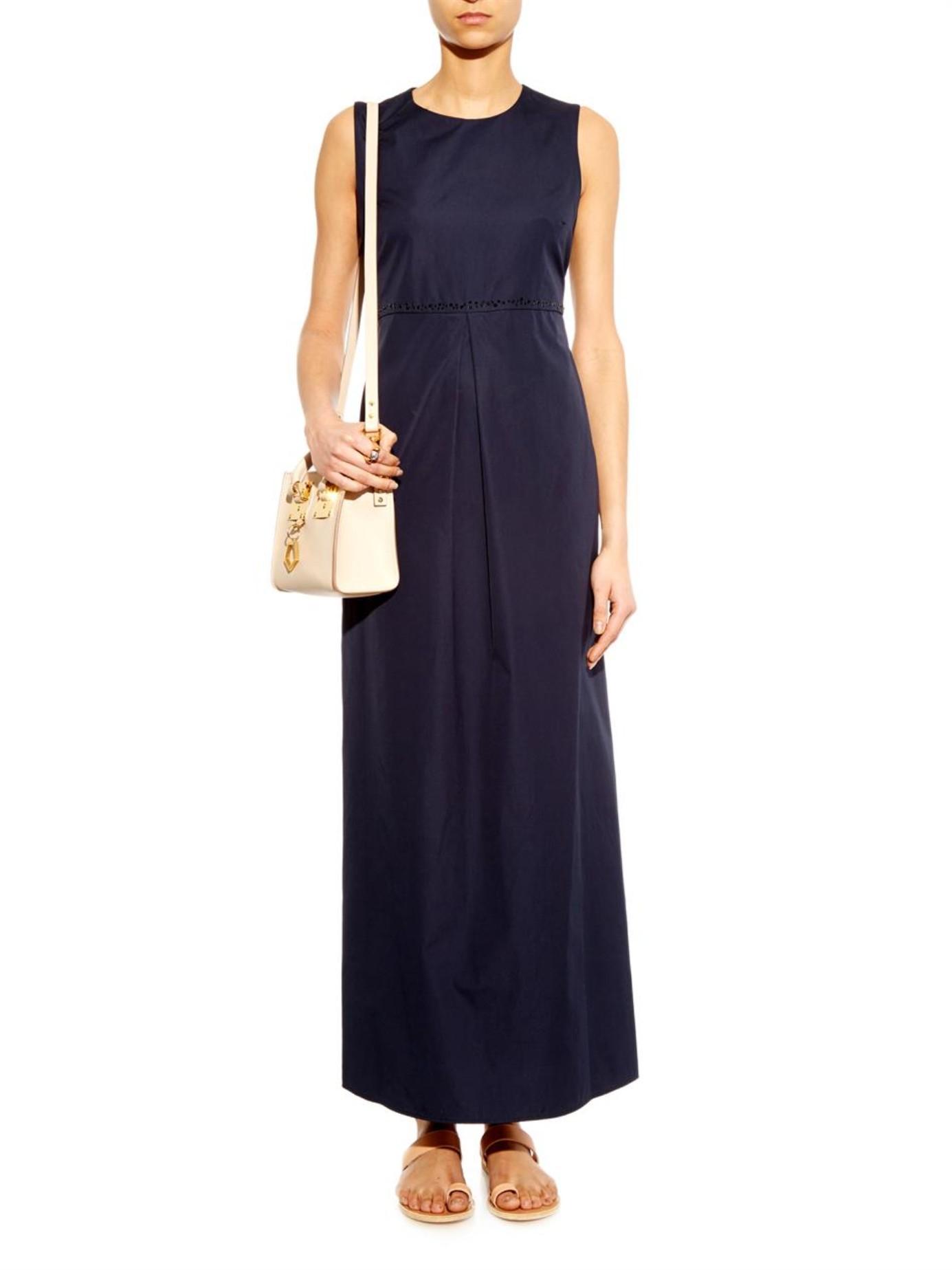 Lyst S Max Mara Fosco Dress In Blue