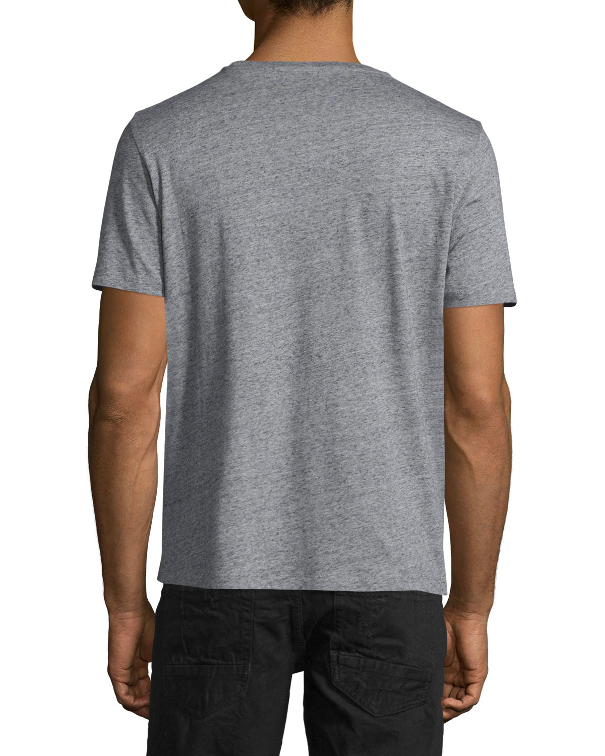 Hollister Oberbekleidung Returns Exchanges Hollister Pullover Hollister Hoodies Hollister Jeans: PRPS Cotton Nyc Logo Short-sleeve Graphic T-shirt In Gray