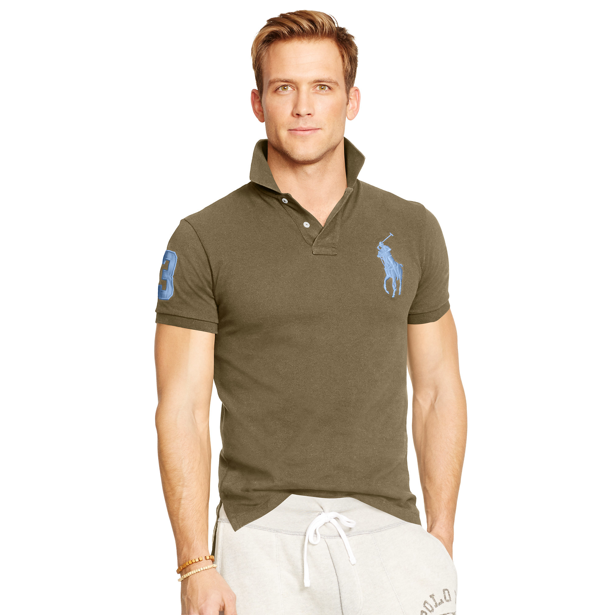 be665dd0 Lyst - Polo Ralph Lauren Custom-fit Big Pony Polo in Green for Men