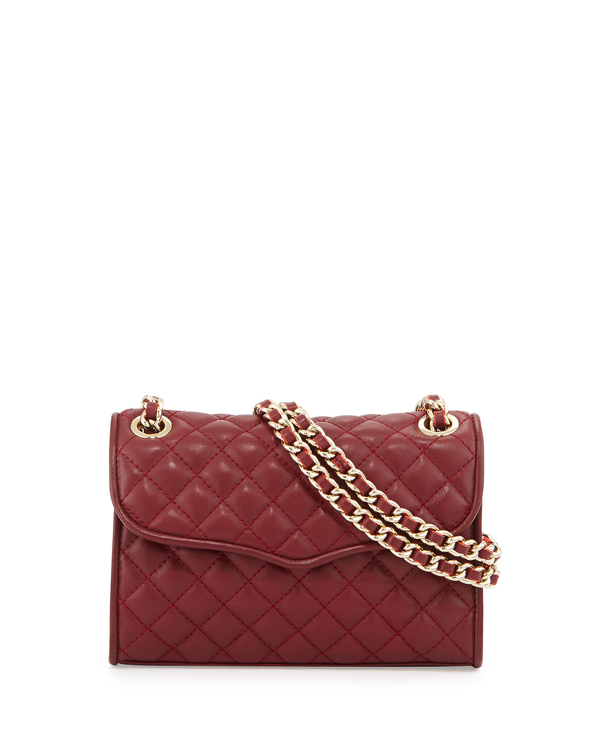 Rebecca minkoff Mini Affair Quilted Cross-Body Bag in Red | Lyst