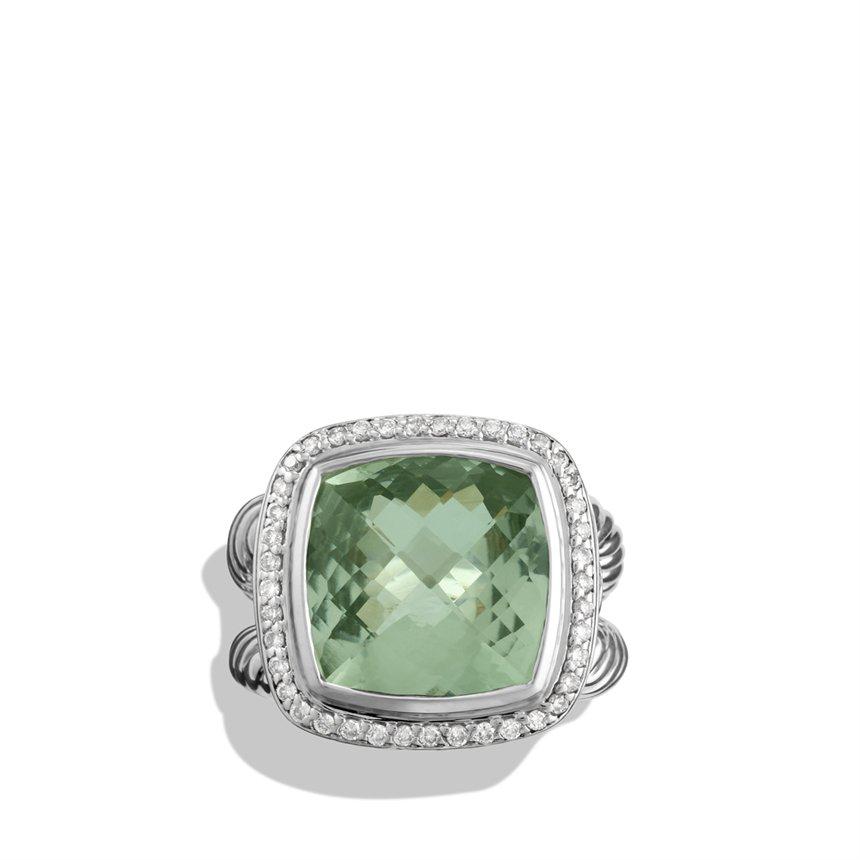 david yurman albion ring with prasiolite and diamonds in
