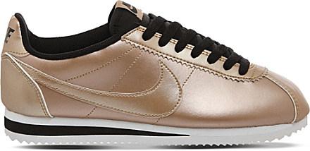 nike cortez leather trainers women