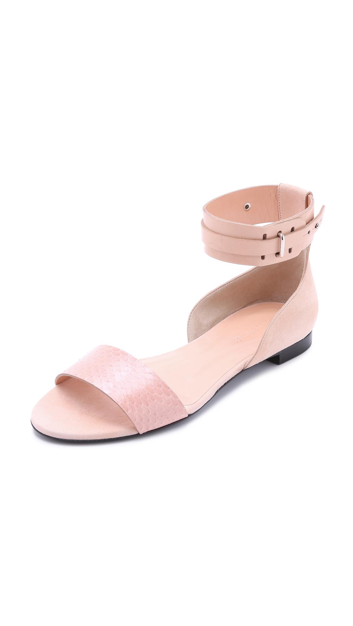 Jill Stuart Fabiola Flat Sandals   Blush In Pink | Lyst