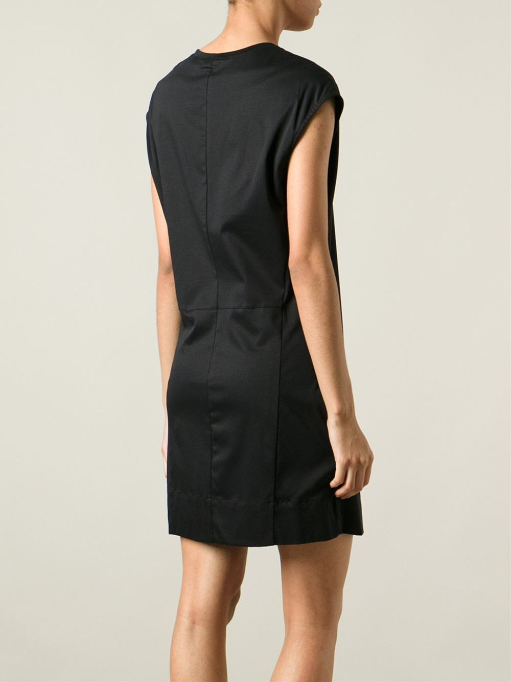 Helmut Lang Jersey T Shirt Dress In Black Lyst