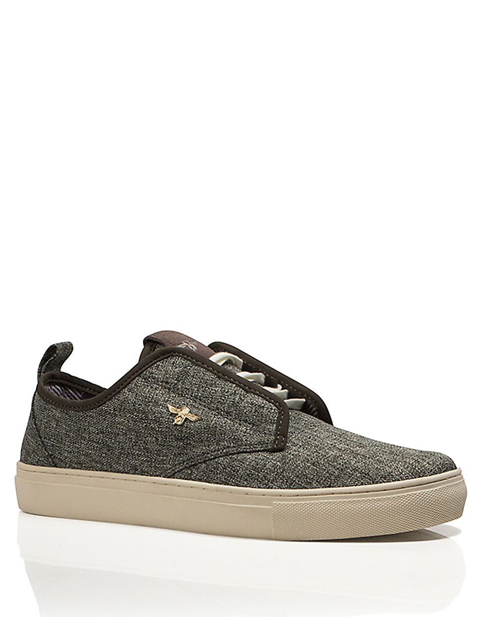 creative recreation canvas sneakers in gray for grey
