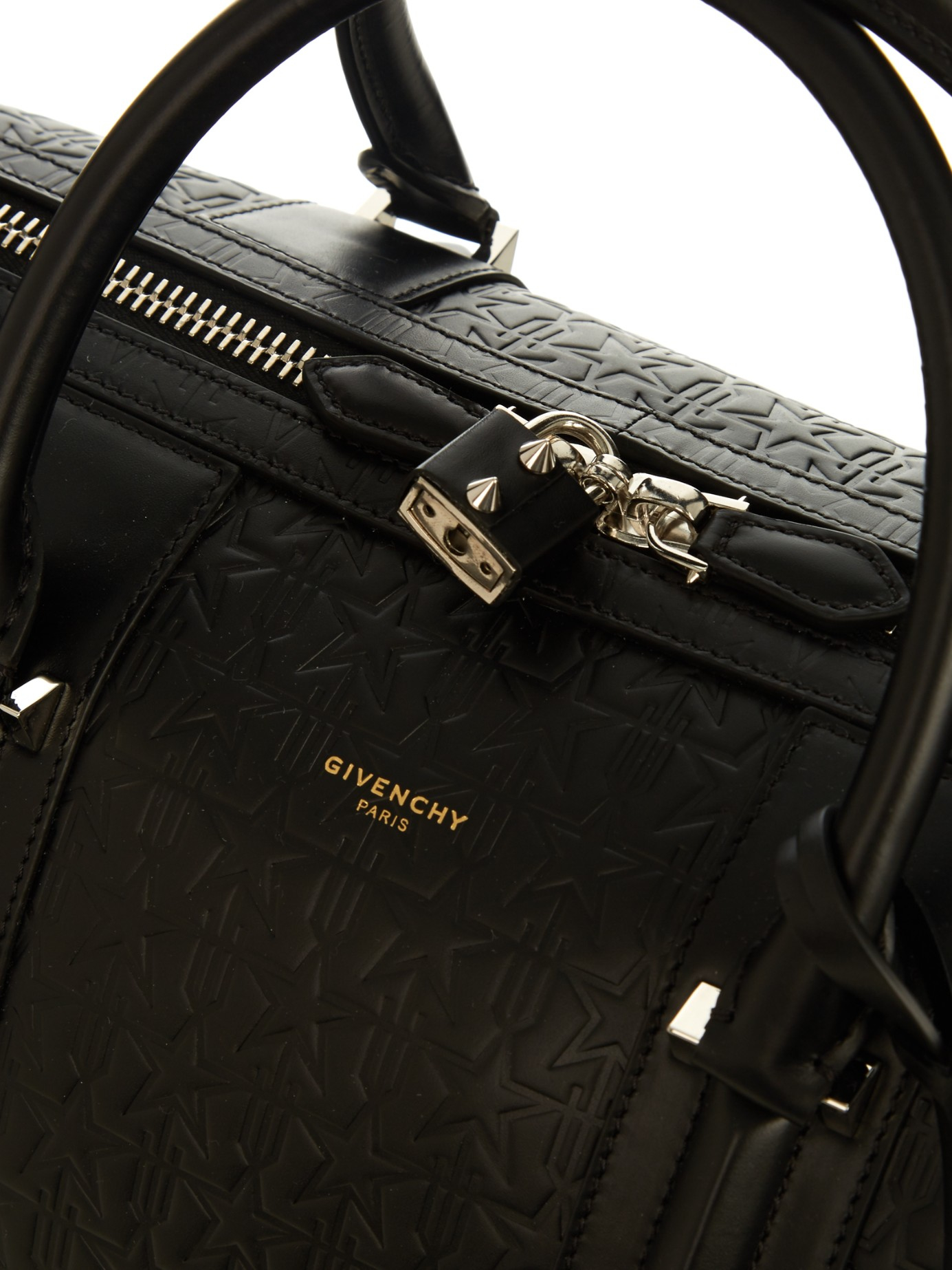 bab4dce188c0 Lyst - Givenchy Star-embossed Leather Weekend Bag in Black for Men