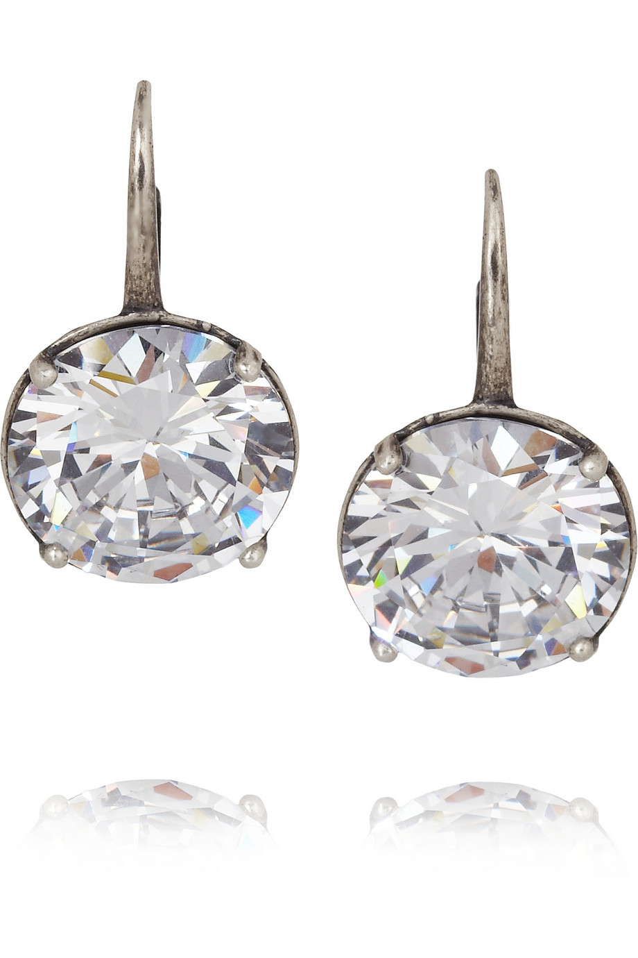 Bottega Veneta Sterling silver earrings with cubic zirconia 6jrBGLSt4