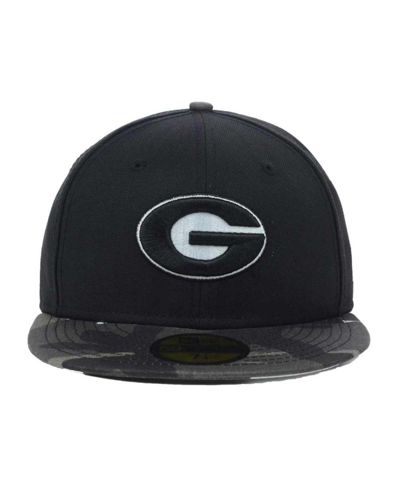 4f577c852b0 Lyst - KTZ Georgia Bulldogs Urban Camo 59fifty Cap in Black for Men