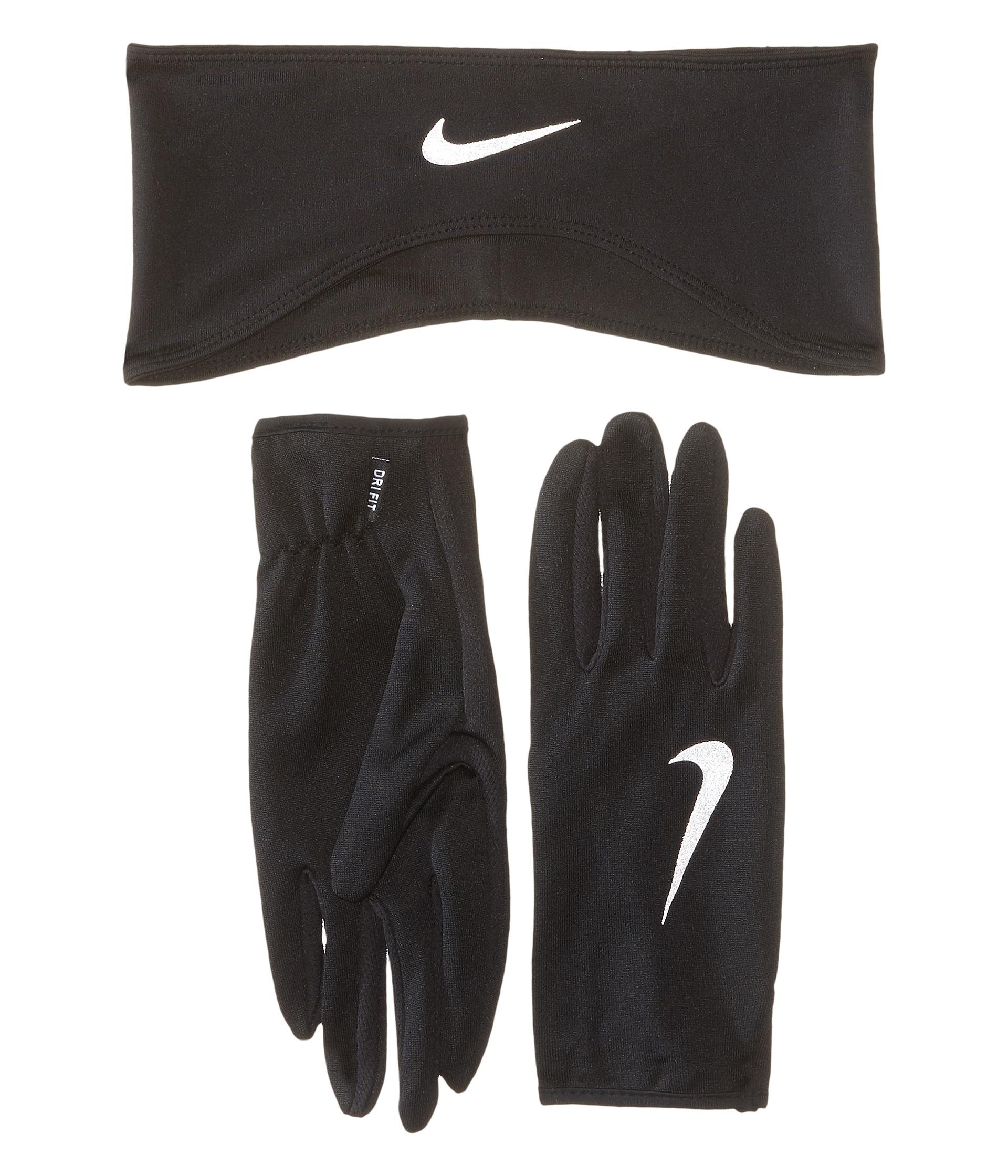 Nike Dri-fit Running Headband/glove Set in Metallic | Lyst