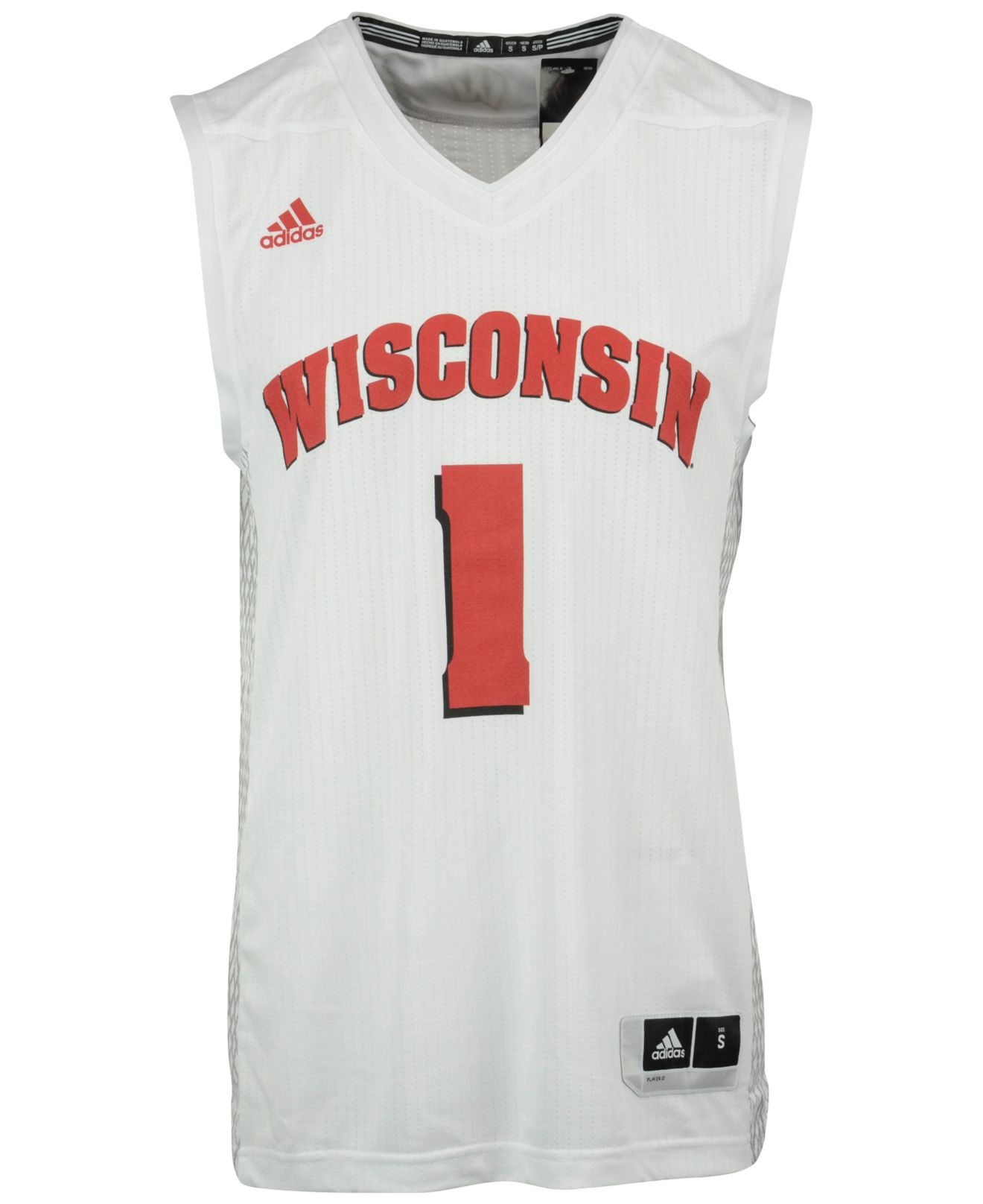 b201081a3 Lyst - adidas Originals Men s Wisconsin Badgers Iced Out Replica ...