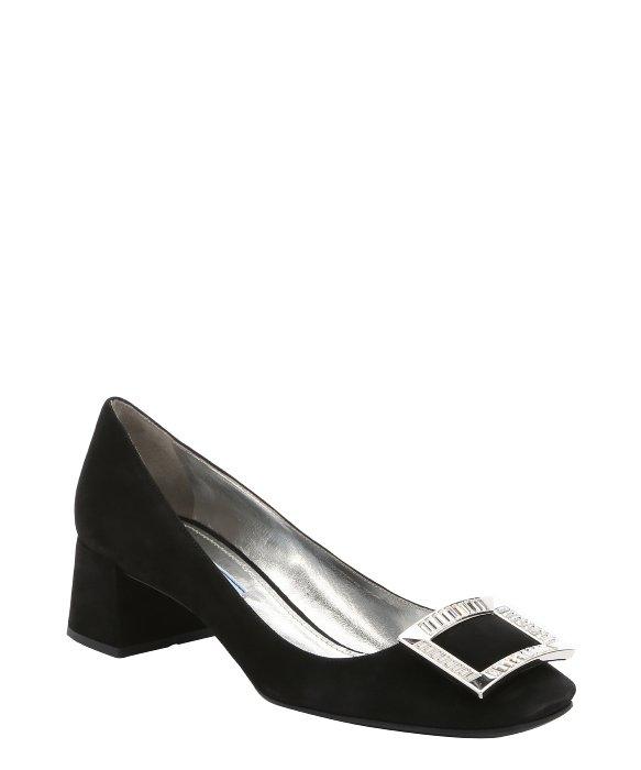 Pumps - Crystal Buckle Pumps Leather Black - black - Pumps for ladies Prada 2018 Unisex Sale Online 5lA6yFj