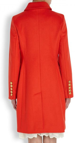 Marc By Marc Jacobs Nicoletta Wool Blend Coat In Red Lyst