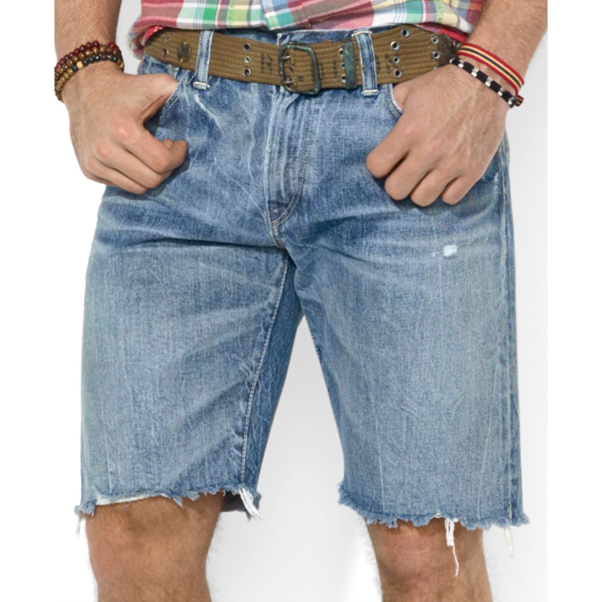 Polo ralph lauren Polo Indigodyed Denim Cutoff Shorts in Blue for ...