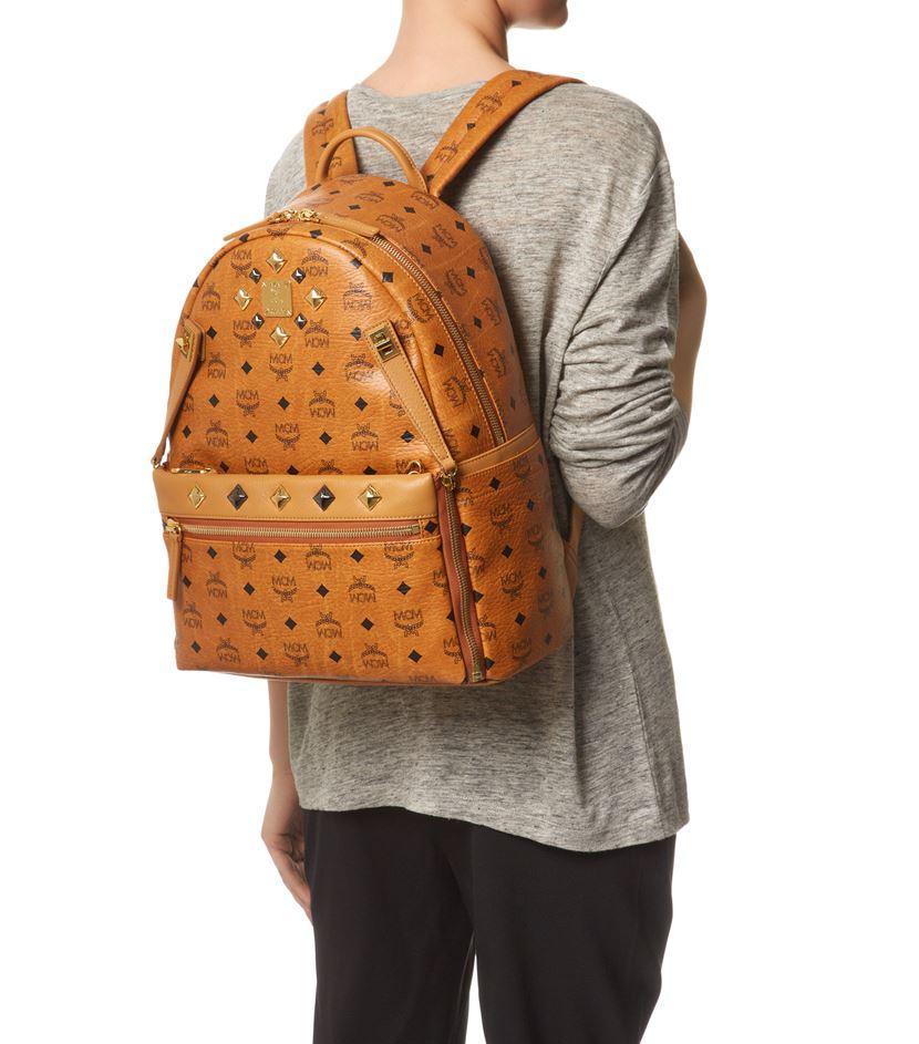 ab5317a33bb MCM Medium Dual Stark Backpack in Brown - Lyst