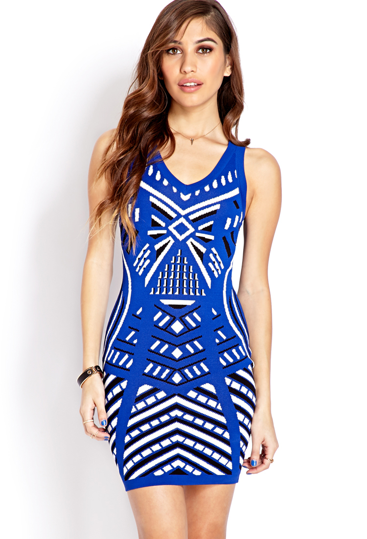 Forever 21 Voyager Bodycon Sweater Dress in Blue | Lyst - photo #36