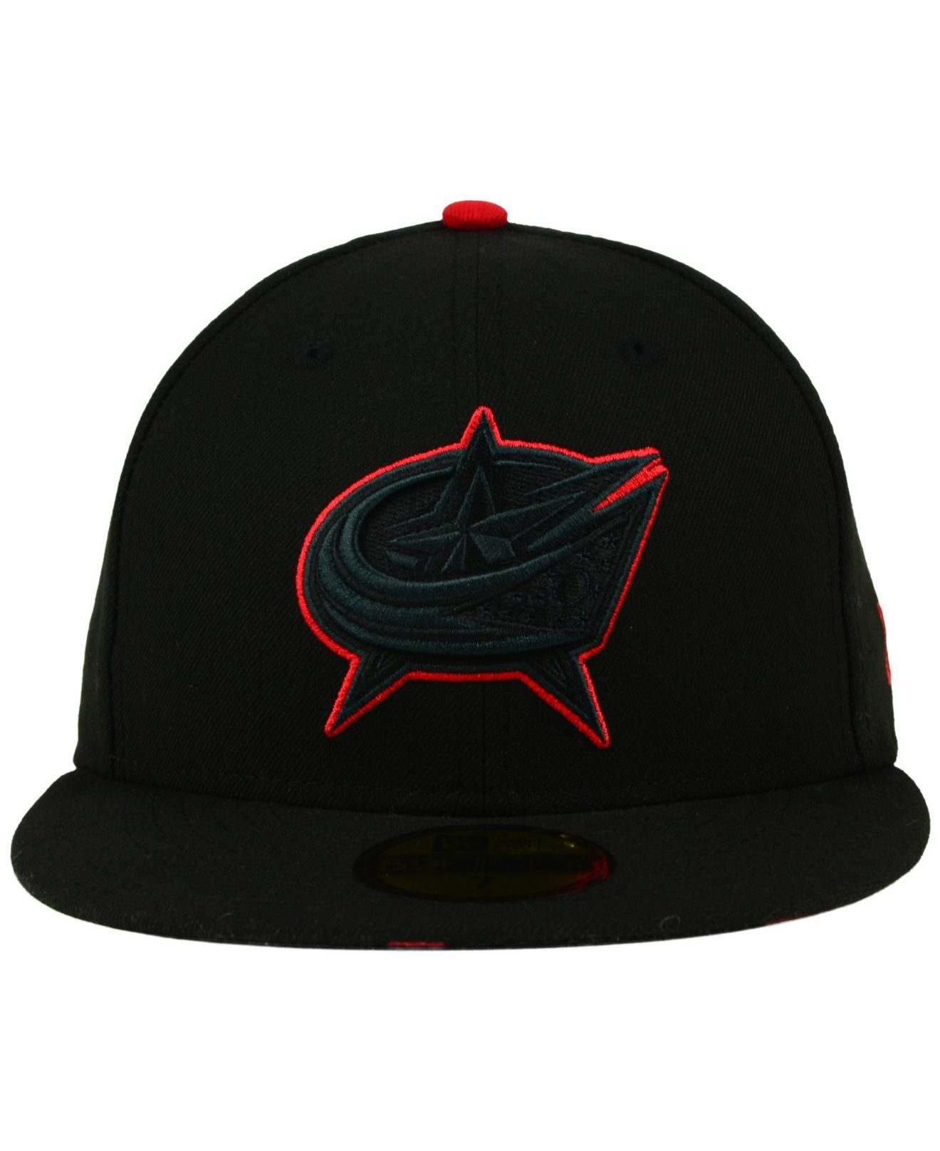 f3df84e2bcf ... fitted cap italy lyst ktz columbus blue jackets pop flip 59fifty cap in  black for men b7683 3adf5 ...