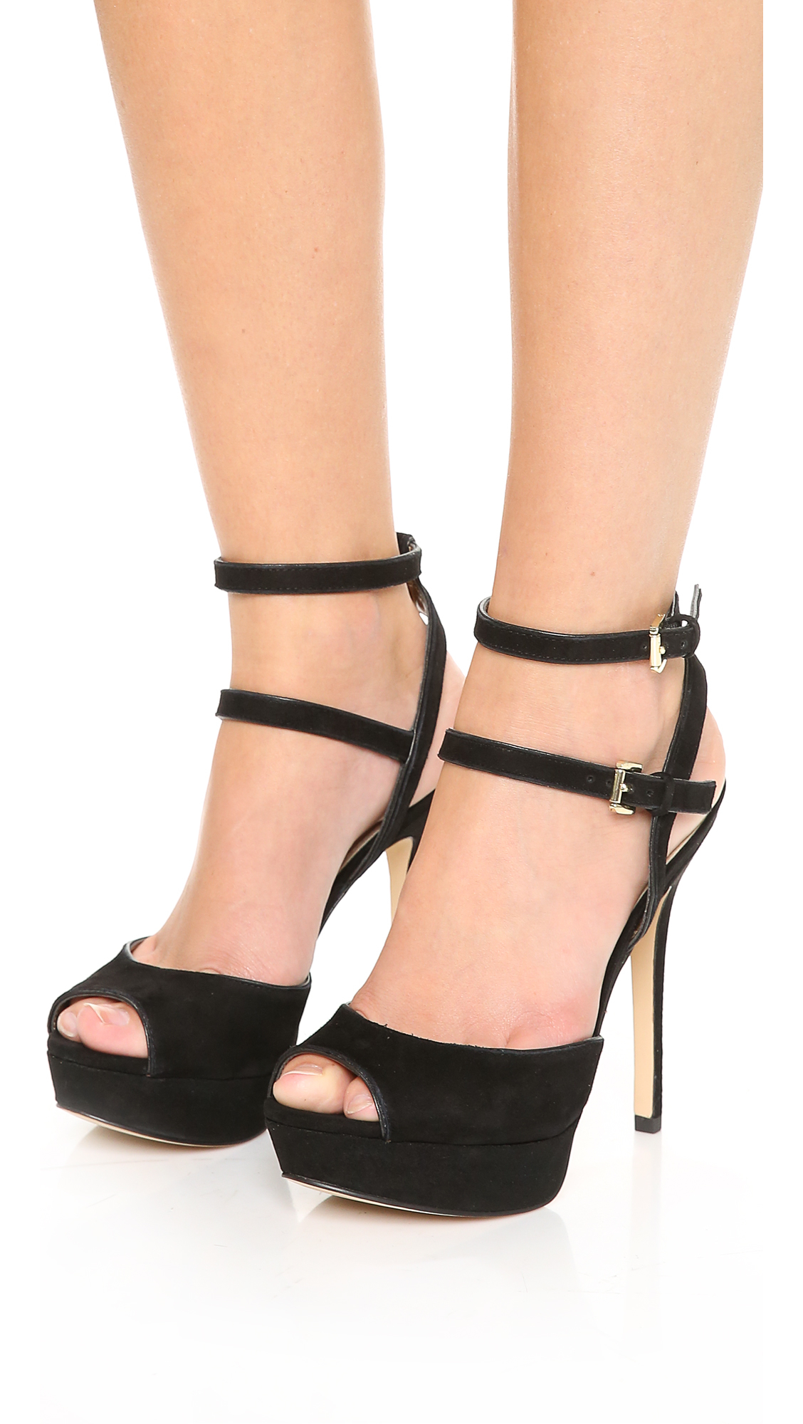 83a32868ff21 Lyst - Sam Edelman Nadine Suede Platform Sandals - Black in Black