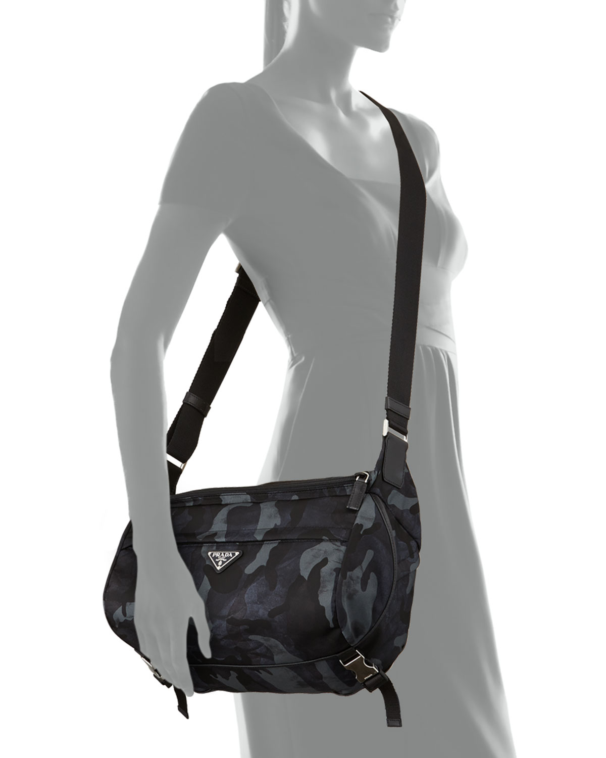 c67398bece10c3 discount prada mens large nylon messenger bag in black for men lyst 94520  38e30; sale lyst prada camo nylon medium messenger bag in blue for men  a95c3 d0b21