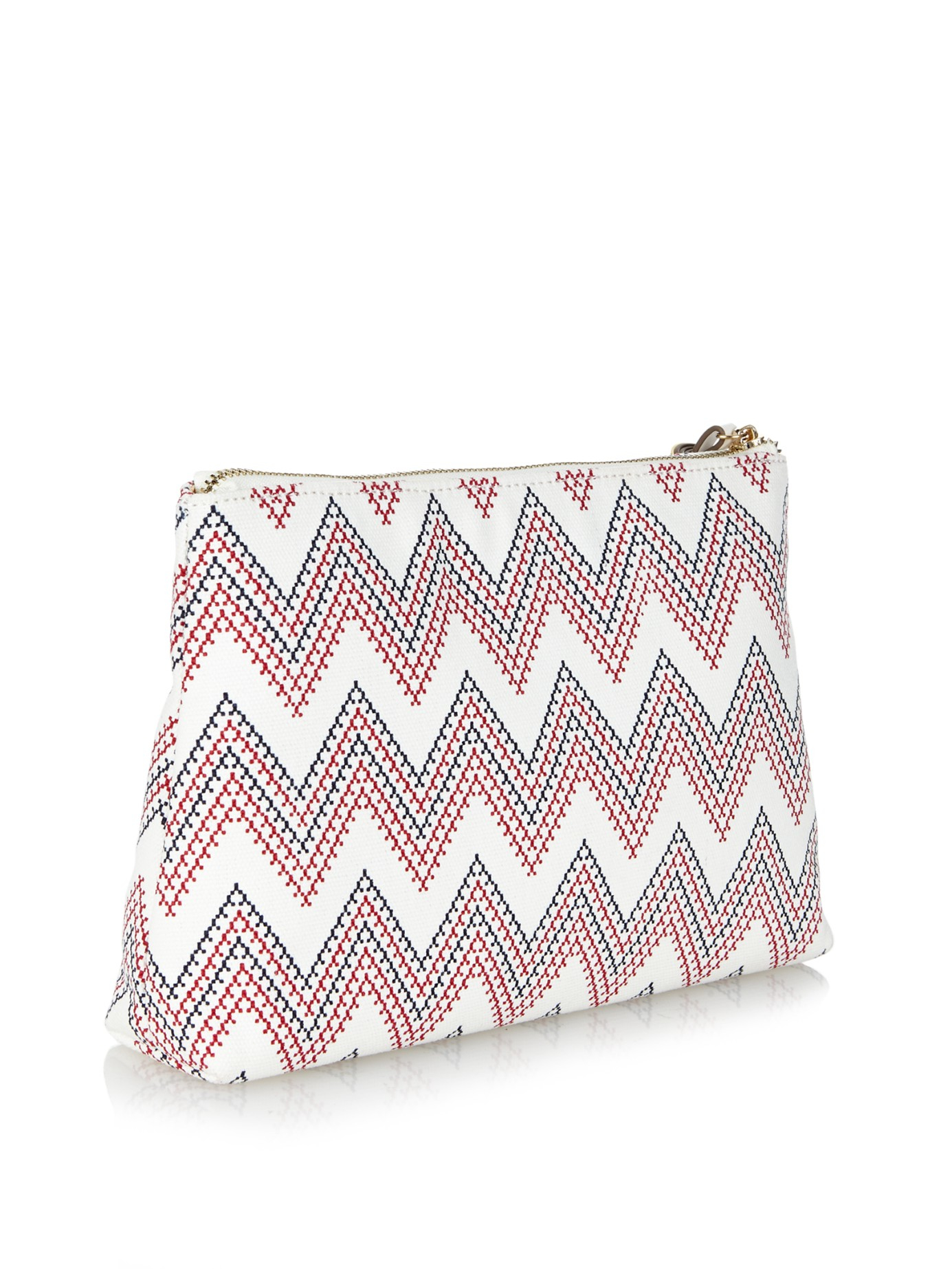 chlo bags - Melissa odabash Ibiza Aztec-print Canvas Clutch in Multicolor (RED ...