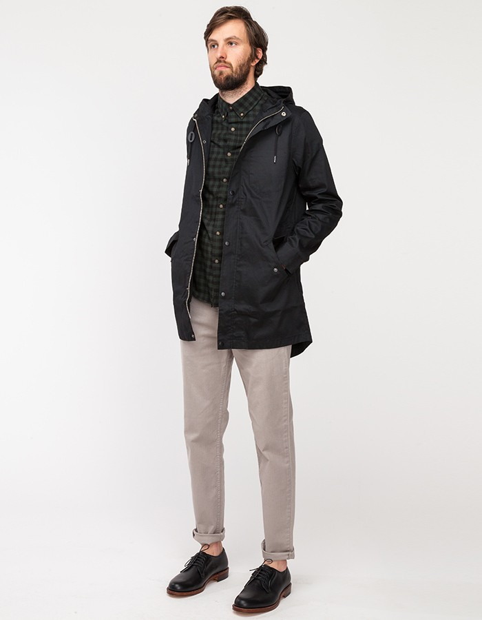 Topman Black Coated Lightweight Parka in Black for Men | Lyst