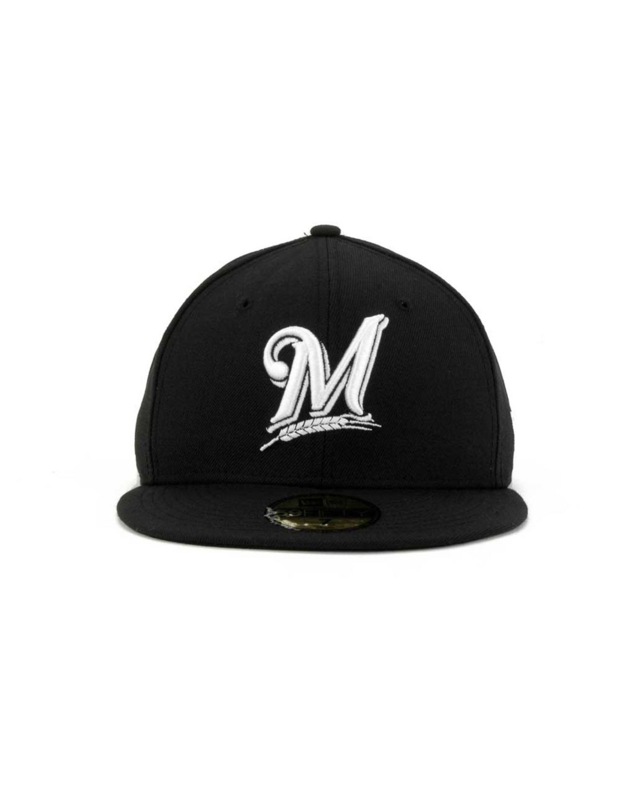 best sneakers fb0fa 1be21 Lyst - KTZ Milwaukee Brewers B-dub 59fifty Cap in Black for Men
