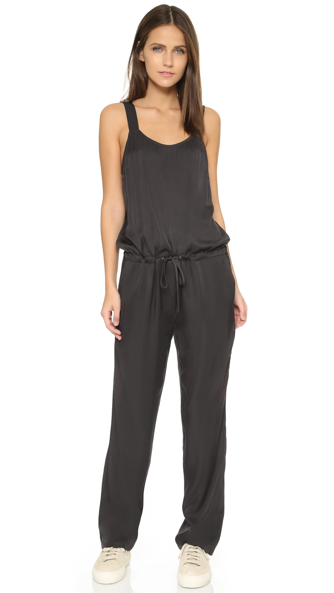 5d9a1cab7f Lyst - James Perse Viscose Twill Jumpsuit - Carbon in Black