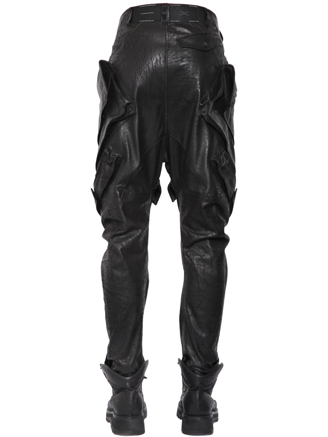 Lyst Julius Nappa Leather Cargo Pants In Black For Men